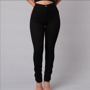 """Fashion Nova """"Aphrodite"""" High Waisted Black Jeans"""